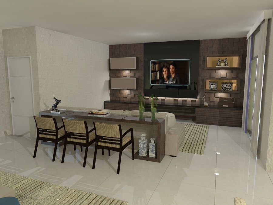 Foto sala de estar jantar e home tv de assessoria e for Sala de estar tv