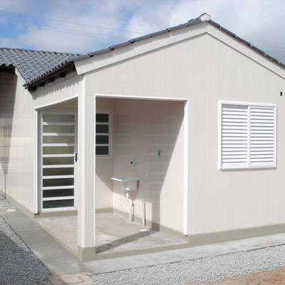 CASA POPULAR em KIT PVC E CONCRETO
