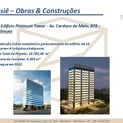 Obra: Edifício Platinum Tower