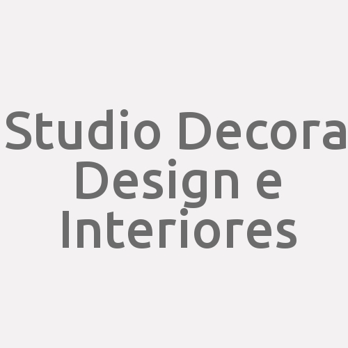 Studio Decora Design E Interiores