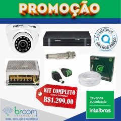 Kit Completo 4 Câmeras HD Intelbras