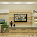 Home office integrado com home theater
