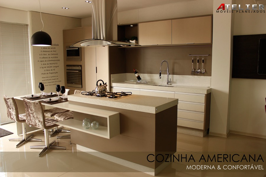 foto cozinha estilo americano de atelier moveis planejados 1053185 habitissimo. Black Bedroom Furniture Sets. Home Design Ideas