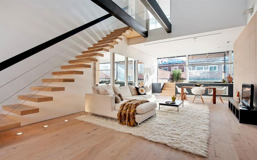Living Room Designs For Small Spaces With Stairs