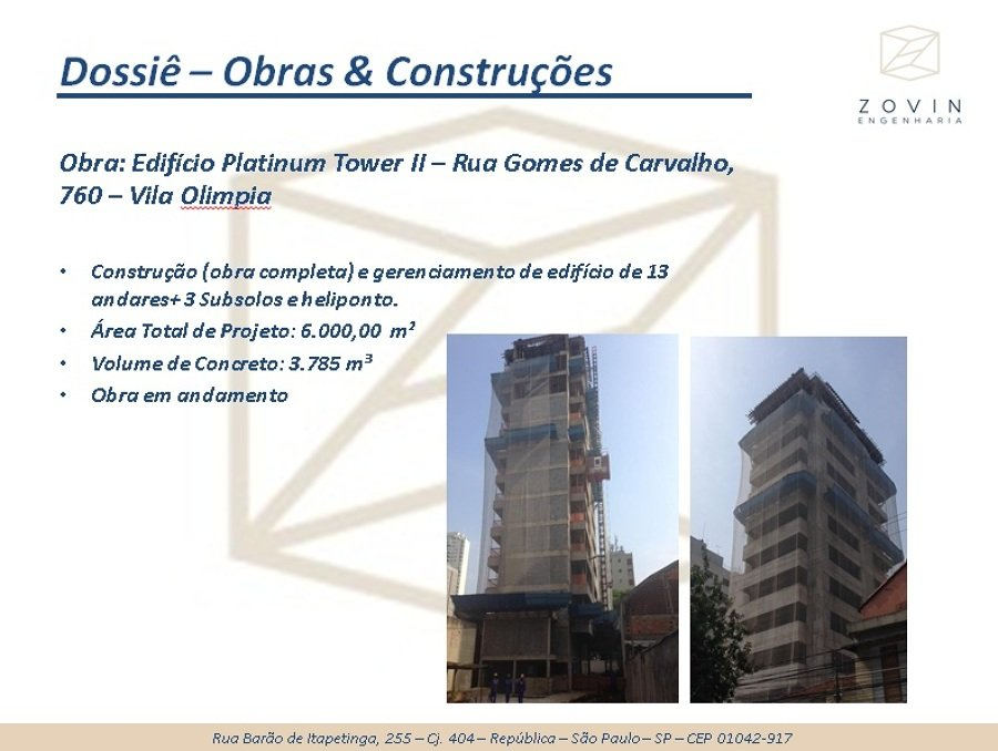Obra Completa - Platinum Tower II