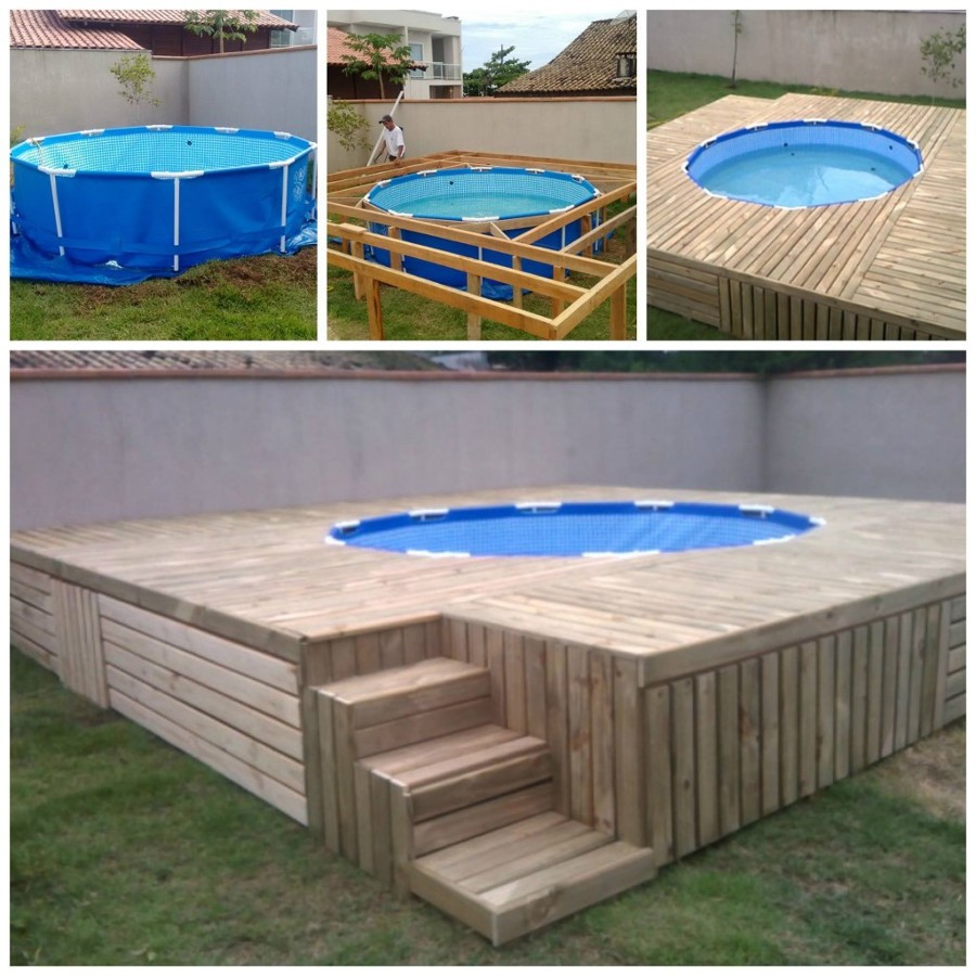 Foto piscina de pallet de barbara guerra 1234629 for Piscinas intex baratas