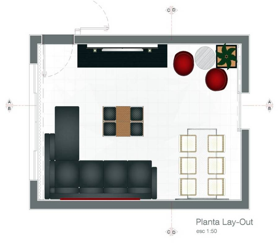 Sala De Estar Layout