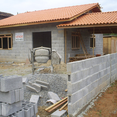 Construir casa bloco de concreto estrutural 60m porto for De construir casas